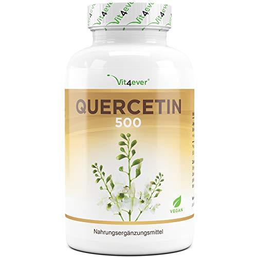 Vit4ever® Quercetin - 500 mg - 120 Kapseln - Aus japanischem Schnurbaum-Blütenextrakt - Laborgeprüfte Reinheit - Hochdosiert - Natürlich - Vegan