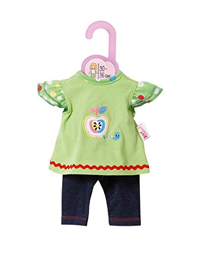 Baby-puppe Shirt (Zapf Creation 870112 - Dolly Moda Shirt mit Leggings, 30-36 cm)