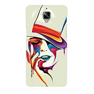 iSweven face design printed matte finish multi-colored back case cover for OnePlus 3