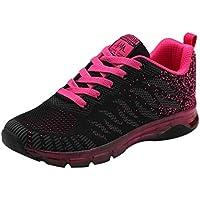 FORH Damen Laufschuhe Fitness Sportschuhe Atmungsaktive Turnschuhe Sneaker Woven Schuhe Luftpolster Turnschuhe Student Net Running Fitness Sneakers