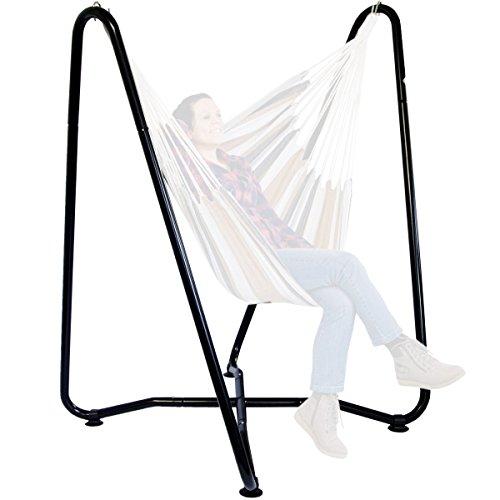 AMANKA Hängesessel Gestell bis 150 kg - 155cm Hängestuhl Ständer für Kinder und Erwachsene - Metall