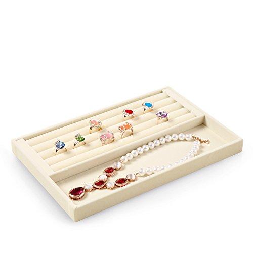 scatola di immagazzinaggio di semplici gioielli/Alta qualità velluto gioielli collana orecchino anello display vassoio/contenitore di orologio di moda-G