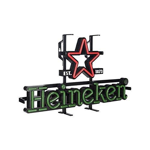 Heineken Lichtreklame - Neon-LED-Barschild, Acryl auf schwarzem Relief, Vintage-Look