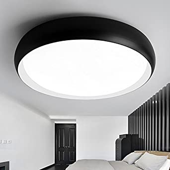 Dimmer Lighting Drum For Living RoomBathroomBedroomAnd Dining Room Led Ceiling Lights Black Box 48Cm 3 Color Temperature Amazoncouk