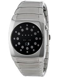 Binary THE ONE LL102R2 - Reloj digital de mujer de cuarzo con correa de acero inoxidable plateada