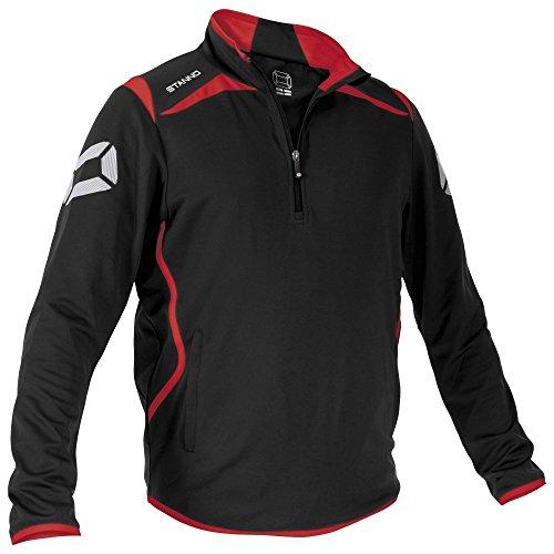 Stanno Forza Top Half Zip - black-red-white, Größe Stanno:XL (Half Schwarz Zip Pullover)