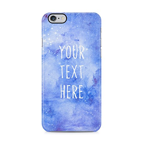 Custom Quote Text Name Initial Create Your Own Case Space Galaxy Stars Cosmic Schutzhülle aus Hartplastik Handy Hülle für iPhone 6 Plus / iPhone 6s Plus Case Hard Cover -