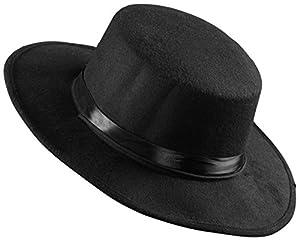 WIDMANN Sombrero El Gaucho Fieltro cepillado Unisex-Adult, Negro, talla única, vd-wdm0491s