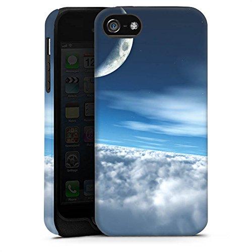 Apple iPhone X Silikon Hülle Case Schutzhülle Himmel Mond Wolken Tough Case matt