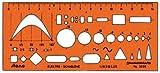 Stano-Elektro-Schablone, 150mm lang, 65mm hoch, orange-transparent