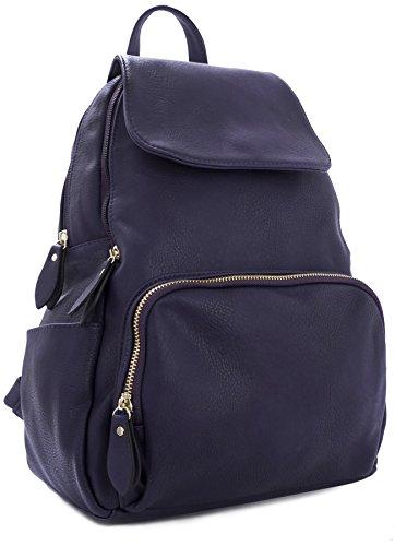 Big Handbag Shop , Zainetto per bambini Deep Purple - Gold Zip