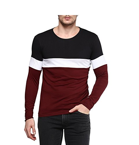 Urbano Fashion Men's Black, White, Maroon Round Neck Full Sleeve...