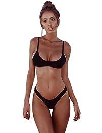 Yuson Girl Tops de Bikini, Bikini Mujer 2018 Push up Bikini Traje de baño de Playa Sexy Beach Bikini Set Color Sólido