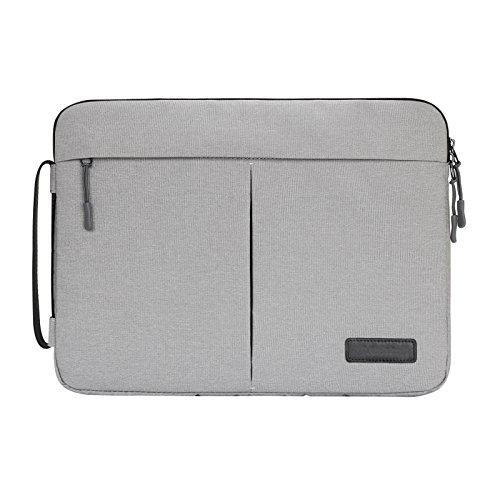 """Y-master 14-15,4 Zoll Laptophülle wasserdicht dünn für Lenovo Dell Acer Asus Macbook Toshiba und andere 14-15,4"""" Ultralbooks Notebooks für Damen und Herren, Grau"""