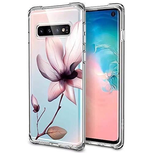 Huphant kompatibel mit Samsung Galaxy S10 hülle Silikon Transparent dünn [Anti-Gelb] Samsung Galaxy S10 Case Silikon handyhülle Mit Bumper Anti-Scratch -Muster 8