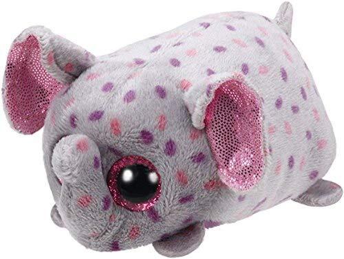 Ty Plush Toys Beanie Boos Big Eyes Fox UnicornDragon Pocket Tsum Candy Pig Stuffed Doll TY Kids Gift Maroon ()