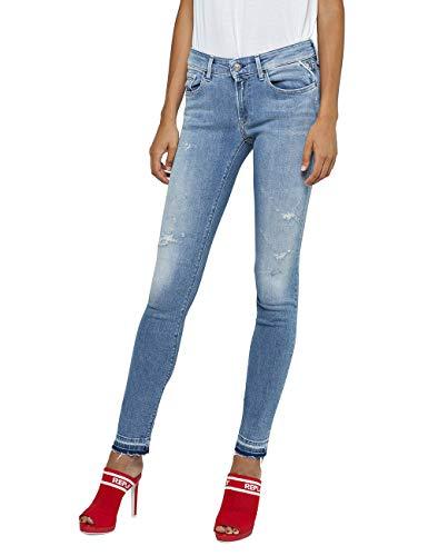Replay Damen Skinny Jeans LUZ, Blau (Light Blue 10), W23/L30 (Herstellergröße: 23)