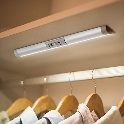 Kleiderschrank LED Beleuchtung, Schrankleuchten, Wandleuchte, Sensorleuchte, Schrankbeleuchtung für den Innen- und Außenbereich Schrankküche, keine Werkzeuge erforderlich 13 Zoll lang
