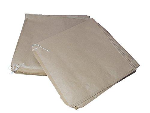 In carta Kraft, misura piccola, colore: marrone, 100 sacchetti di carta per filo, misura x 17,78 (7 17,78 cm x 7, 178 x 178 x 178 mm, frutta e verdura per Sandwich Grocery