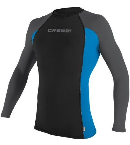 Cressi Herren Rash Guard Long-Shirt Mens, BK_BL - XL