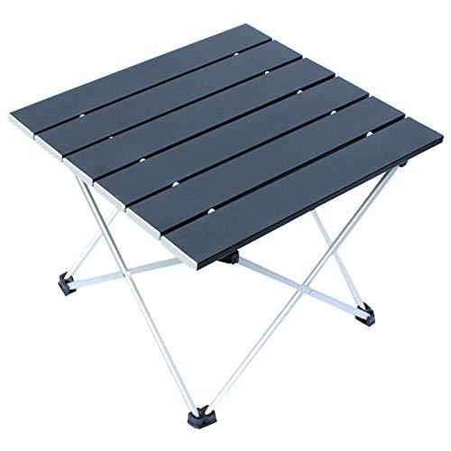 Table Pliante Ultra LéGer en Alliage D'Aluminium Portable Pliante Mini Voiture Petite Table Camping en Plein Air Pique-Nique Thé Barbecue Table Noire 39.5 * 35 * 31.5cm