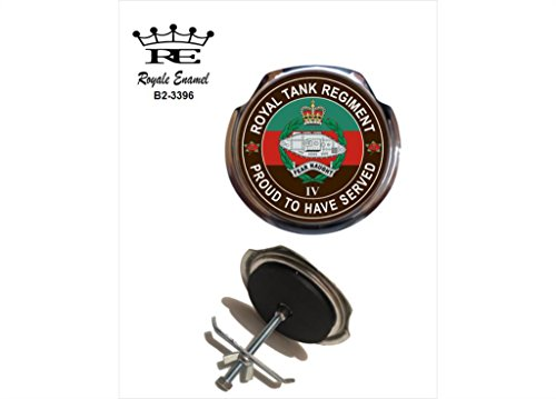 Preisvergleich Produktbild Royale Emaille Royale Car Grill Badge–4. Royal Tank Regiment Stolz B2. Stapelstuhl