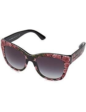 Dolce & Gabbana 0DG4270, Gafas de Sol para Mujer, Multicolor (Print Rose On Black), 55
