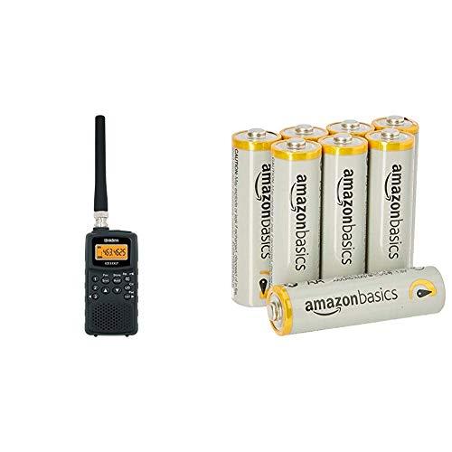Uniden EZI-33 XLT Air band Radio Radio Scanner & AmazonBasics AA  Performance Alkaline Batteries [Pack of 8] - Packaging May Vary