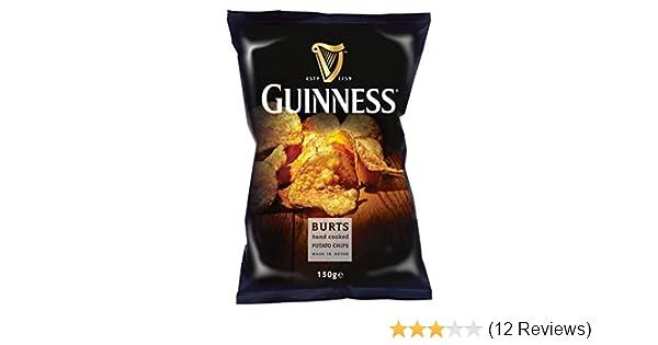 Burts Guinness Hand Cooked Potato Chips 150g Handfrittierte