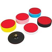 Silverline 285024 - Juego de esponjas para autoadherentes, 6 pzas (150 x 50 mm)