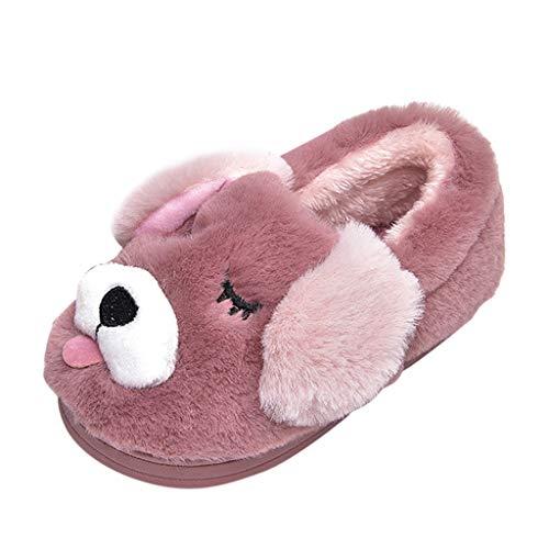 MEIbax Kleinkind Baby mädchen Jungen Cartoon Hund Hausschuhe Cartoon warm zuhause Schuhe Hausschuhe aus Baumwolle