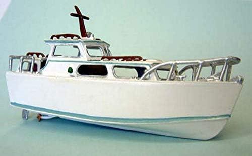 Modèles de Langley 26' Courlis Moteur Cruiser sans Moteur OO échelle Non Peinte Kit F5d   D'ornement
