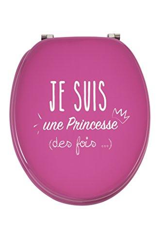 Wirquin 20721910WC-Sitz FSC 100% Trendy Line Princess, rosa und weiß