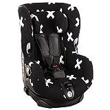 Housse de siège auto pour Maxi-Cosi Axiss - noir avec des arcs blancs