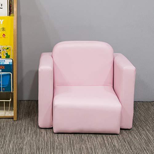 DW&HX 2-in1- Kinder Sessel Abnehmbare Tisch und Stuhl Multifunktionale Adorable Weichen Robust Leder Kinder polsterstuhl Holzrahmen Sessel für Kinder -Rosa 48 * 38 * 33cm(19 * 15 * 13inchj) -