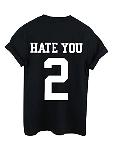 New Unisex Hate You 2 Too T-Shirt Top Jersey Baseball