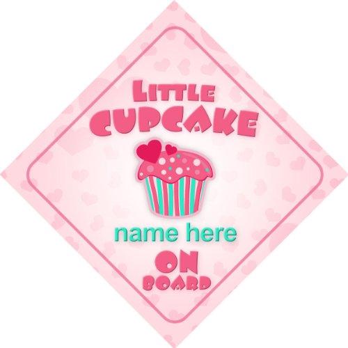 Little Cupcake a bordo personalizzato auto Sign New Baby Girl bambino/Gift/present