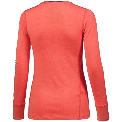 Odlo Shirt L/S Crew Neck Natural 100% Merino sous-Vêtements Femme hot coral - pickled beet