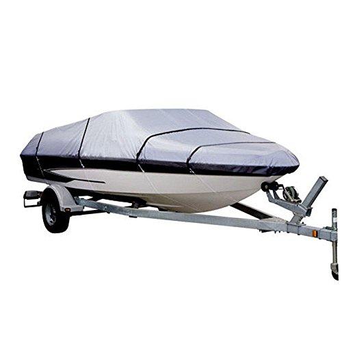 AOLVO Wasserdicht Durable Heavy Duty Marine Grade Boot,, Anti–UV-Infrarot, Trailer Angeln Ski,, grau, Fit Boat Size 14-16ft
