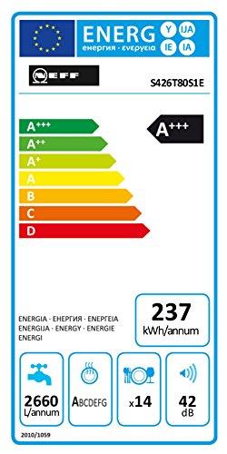 Neff GH6801TN Geschirrspüler integrierbar / A+++ / 14 Maßgedecke / 42 dB / 9,5 Liter / 237 KWh/Jahr