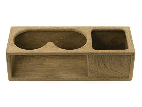 WHITECAP TEAK 2 isolierte Trinken/Fernglas Rack mit Tray by Whitecap Industries (Cap Racks Für Baseball-caps)