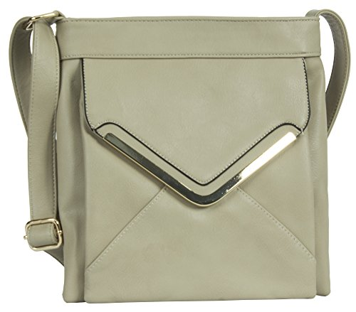 Big Handbag Shop, Borsa a mano donna Design 1 - Beige