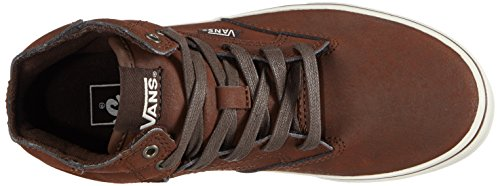 VansY WINSTON HI LEATHE - Sneaker Unisex - bambino Marrone (Braun (Leather brown/brown))