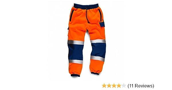 Standsafe Reflective Hi Vis Work Jogger Pants Orange FREE SOCKS