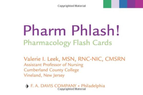 Pharm Phlash!: Pharmacology Flash Cards (Pharmakologie-flash-karten)