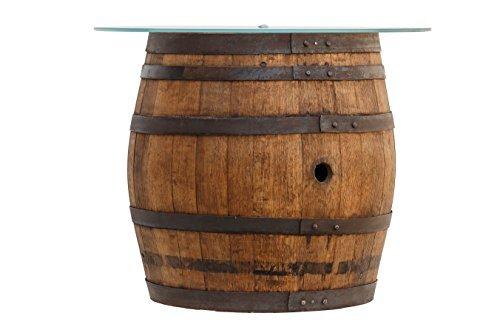 Le-Porte-del-Chianti-Tavolino-da-fumo-ricavato-da-vecchio-caratello-di-vinsanto-del-Chianti-con-Top-in-Cristallo