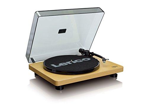 Lenco L-30 Plattenspieler im Holzgehäuse mit USB-Anschluss zum Digitalisieren von Schallplatten (Line-Ausgang, Auto-Stop, 2 Geschwindigkeiten, - Vinyl Holz Plattenspieler