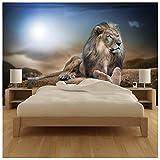 azutura Majestic Lion Papier Peint Photo Safari Animal Papier Peint Enfants Chambre à Coucher Décor Disponible en 8 Tailles Gigantesque Numérique