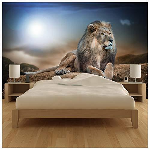 her Löwe Fototapete Safari Tier Tapete Kinder Schlafzimmer Haus Dekor Erhältlich in 8 Größen XXX-Groß Digital ()
