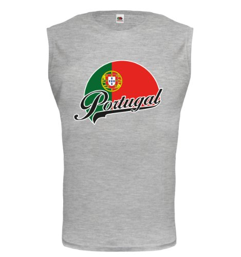 buXsbaum® Tank Top Portugal-Logo Heathergrey-z-direct